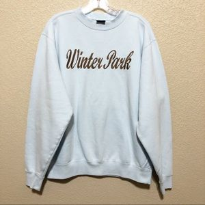 Winter Park Colorado Blue Pullover Sweatshirt